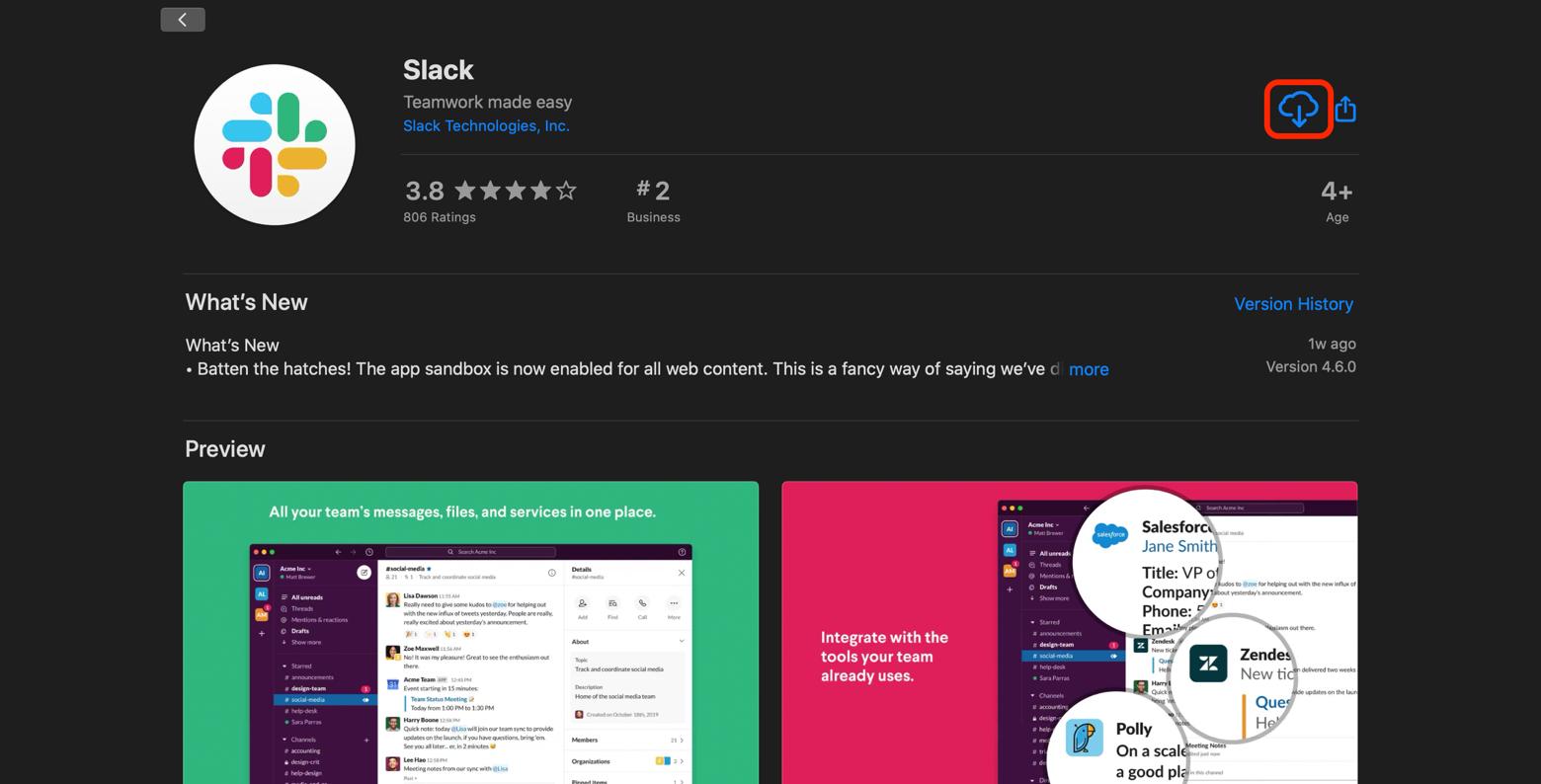 Slack download Mac App Store
