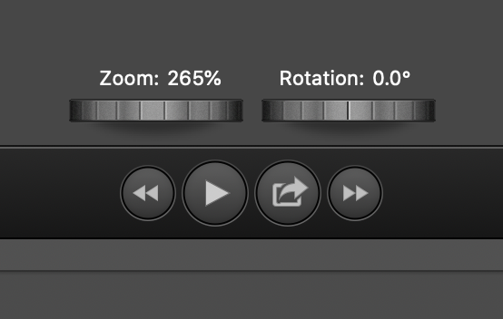Zoom and Rotation options