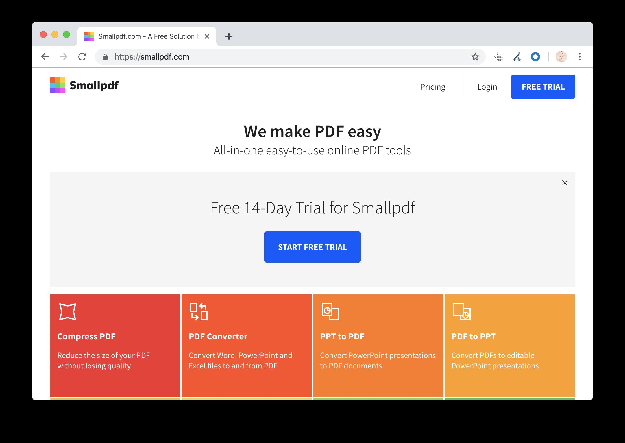 smallpdf.com website screenshot