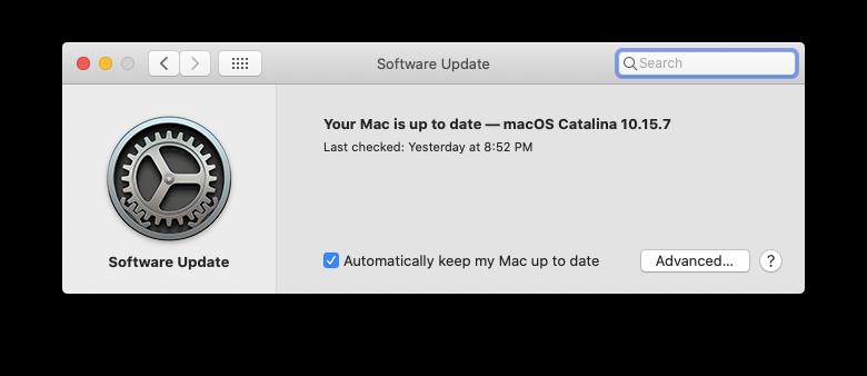 software update macos mac