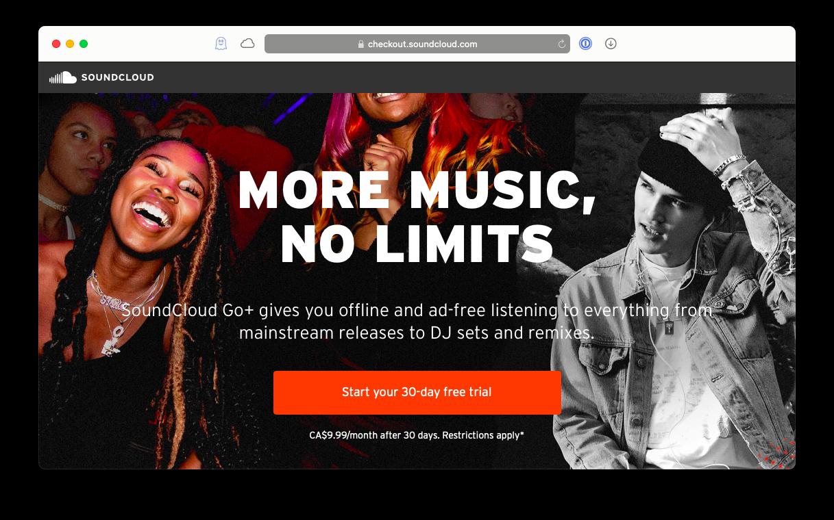 Go subscription download - Soundcloud