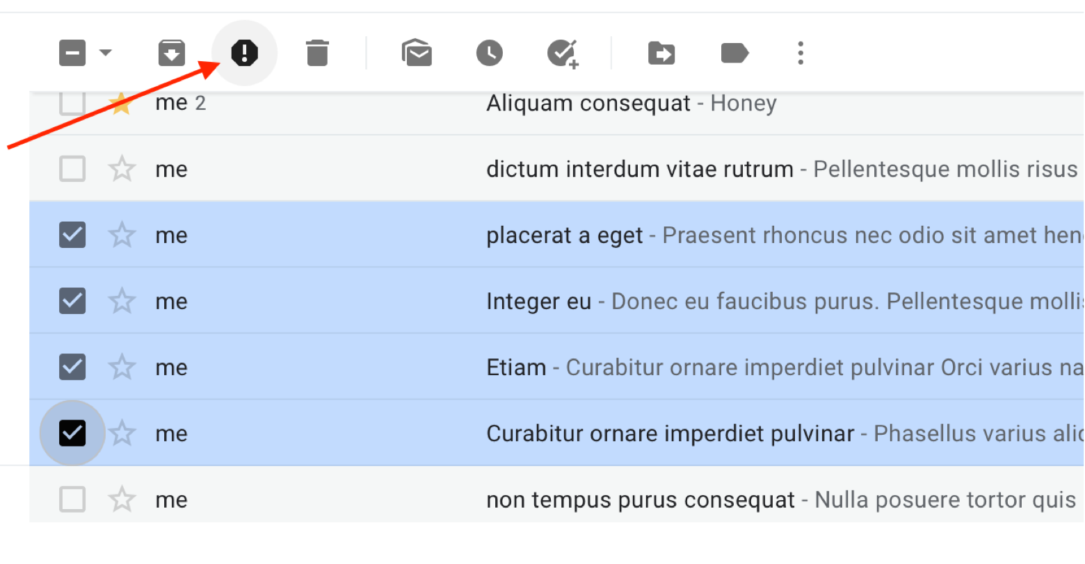 move messages to Spam in bulk