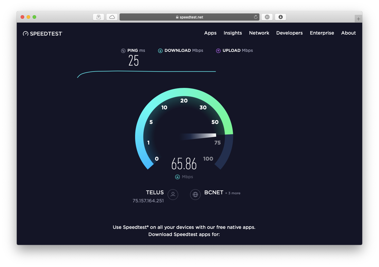 speed test Mac WiFi connection
