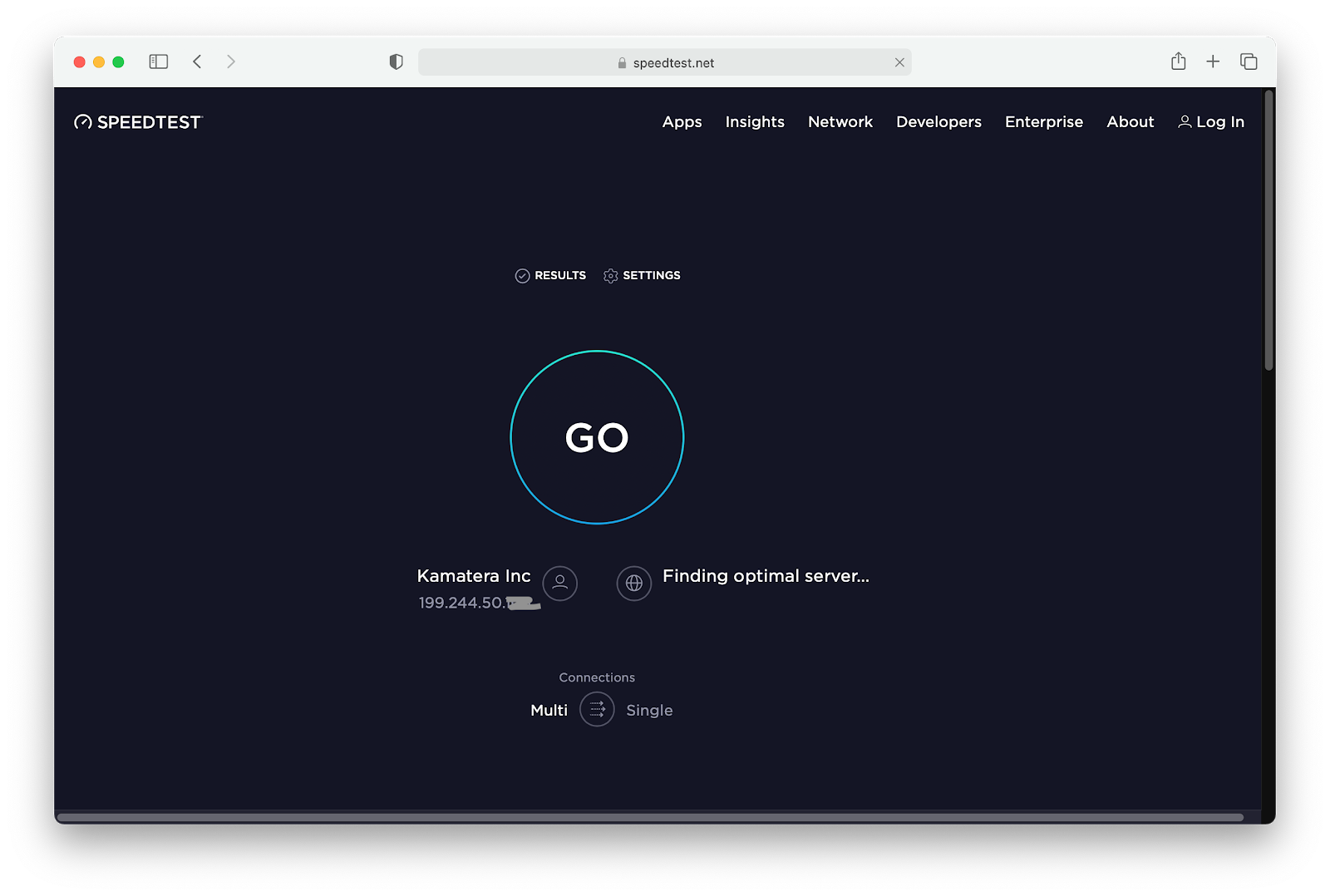how to check internet speed on a mac