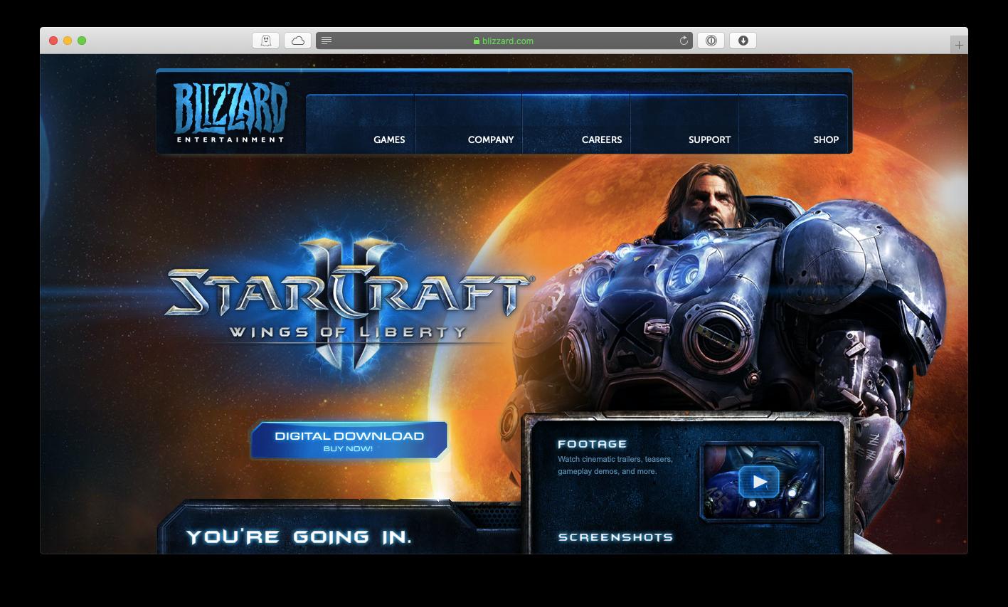 Starcraft II mac game