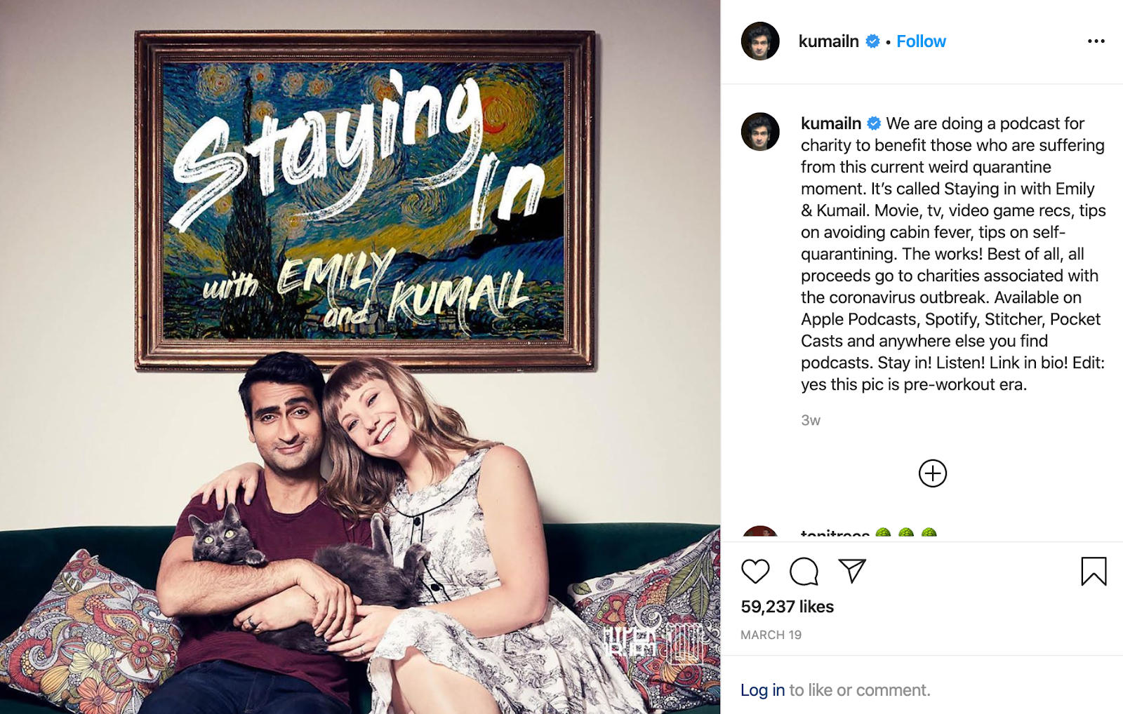 Staying In with Emily and Kumail