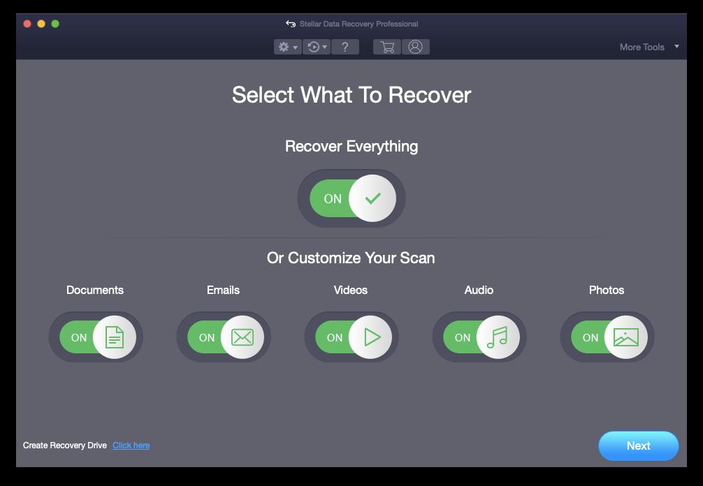 Stellar data recovery Mac software app