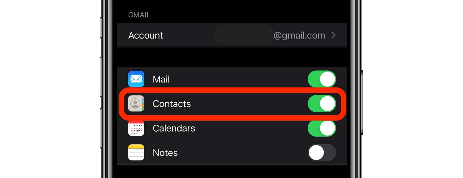 sync gmail contacts iphone