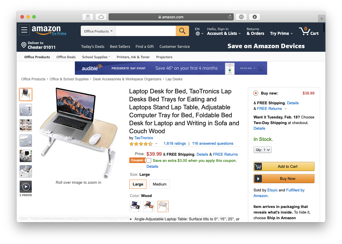TaoTronics Apple MacBook mobile laptop stand