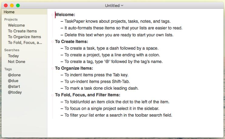 taskpaper simple apps