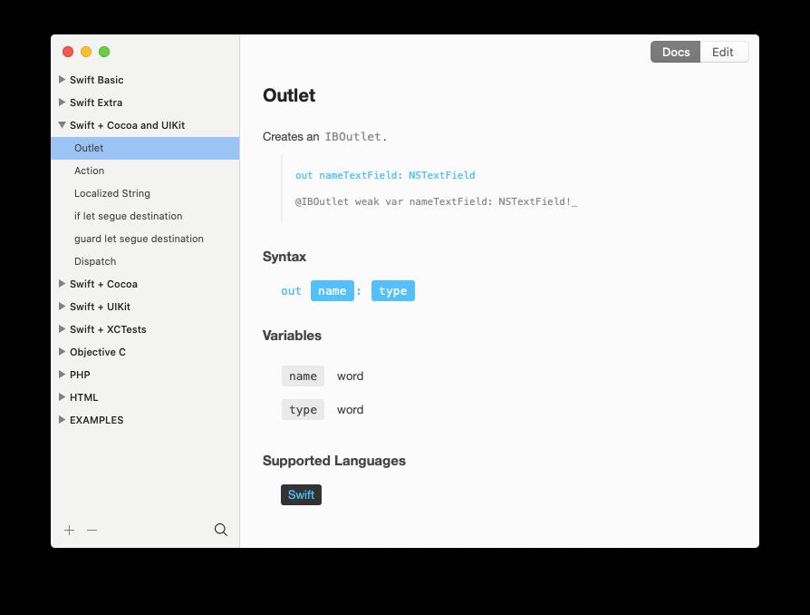 TeaCode expander Mac app editor