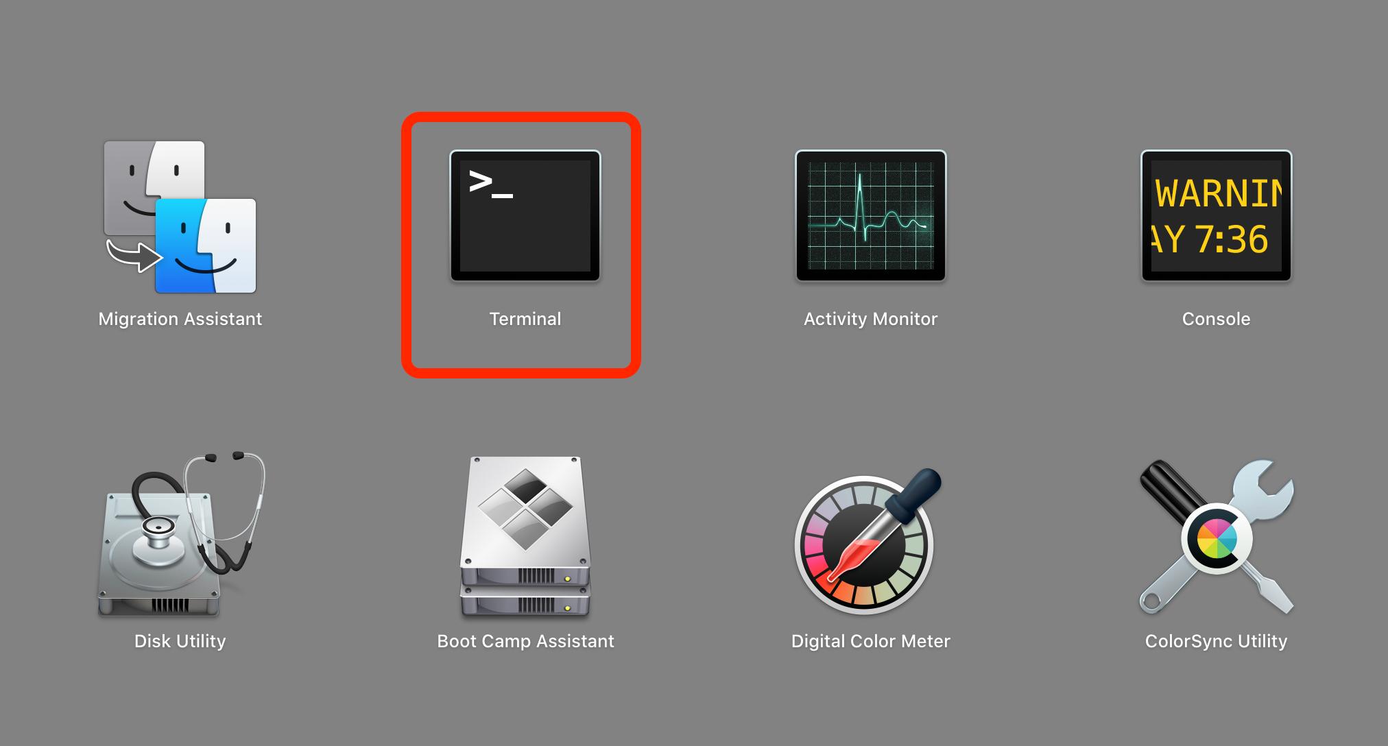 terminal launchpad mac