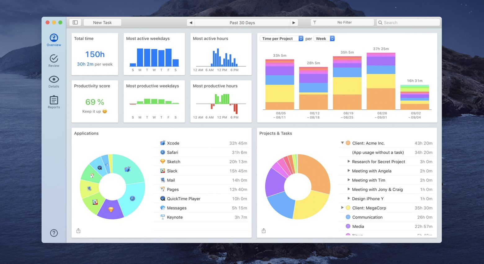 time management app Timing Mac