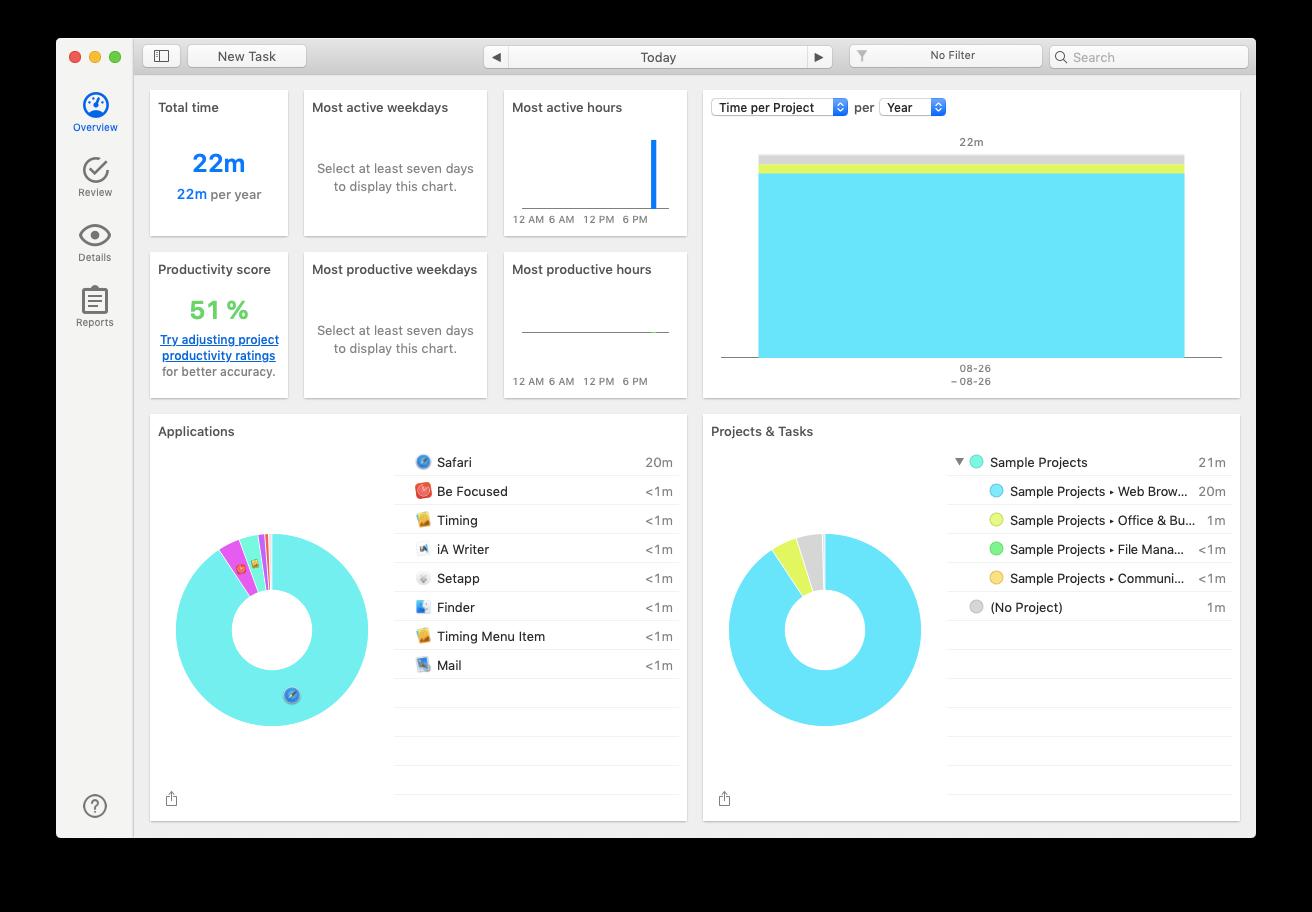 Timing Mac pomodoro productivity app