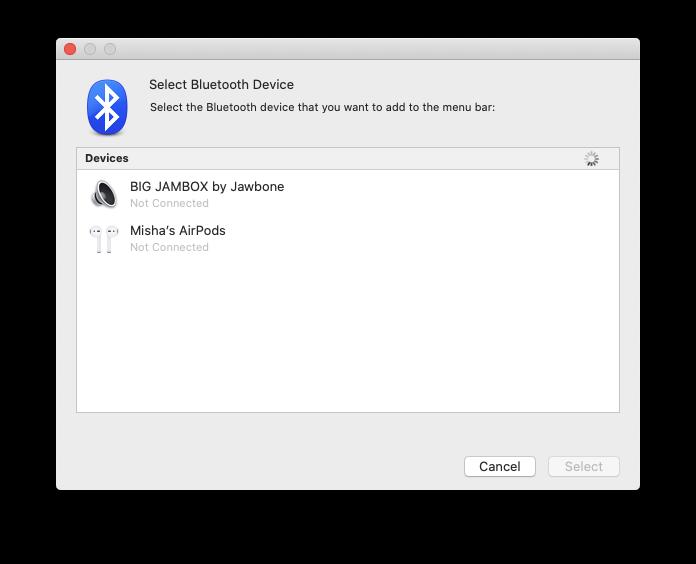 ToothFairy Bluetooth turn on off Mac