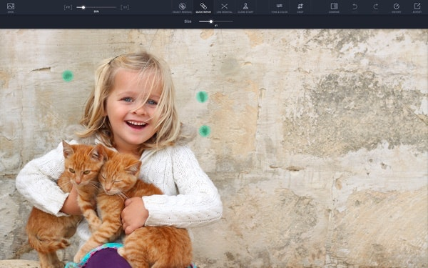 TouchRetouch editing