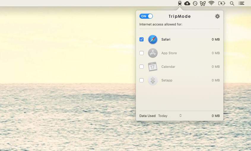 TripMode restrict WiFi access Mac