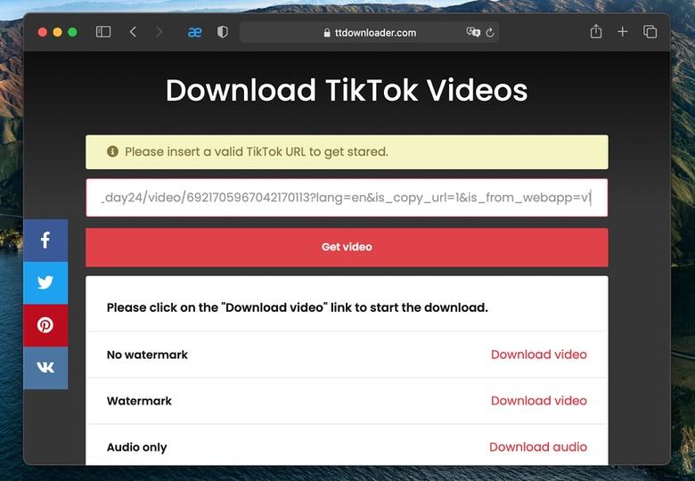 a free TikTok downloader