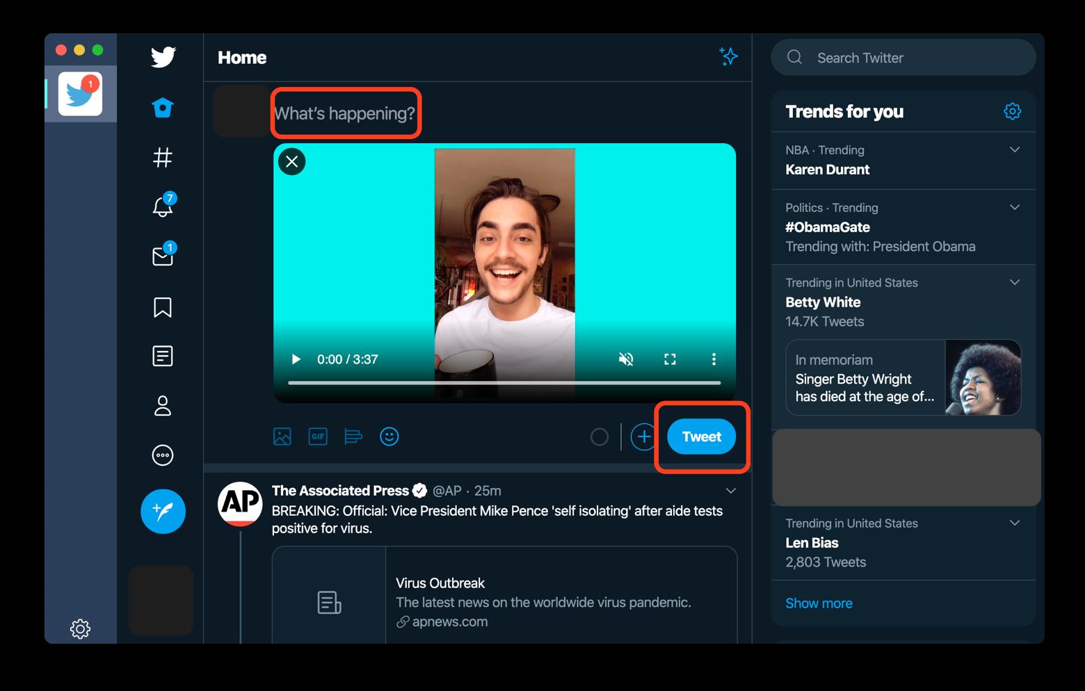 share video Twitter