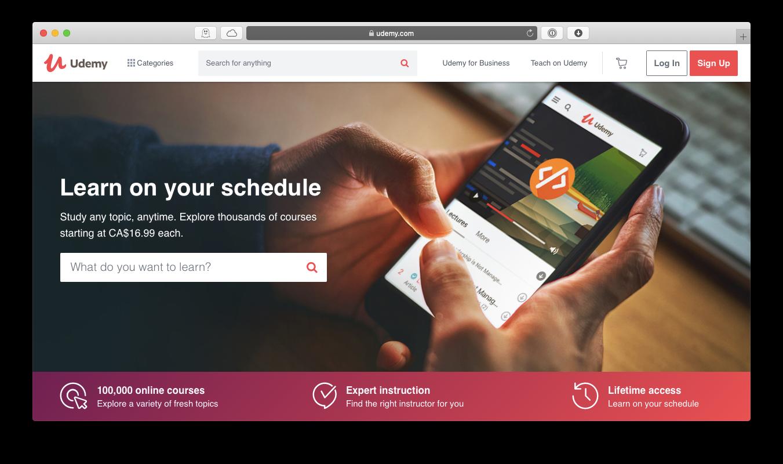 Udemy Apple TV app learn Mac
