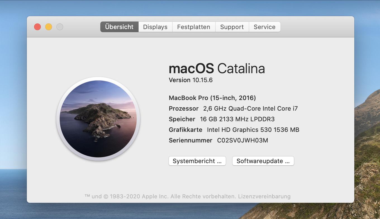 Welche macOS-Version ist installiert?