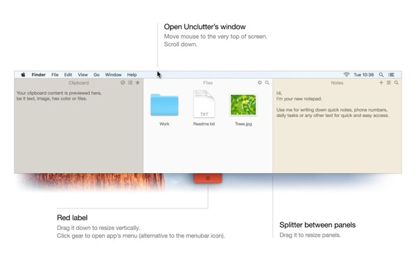 Use Unclutter app to capture ideas easily