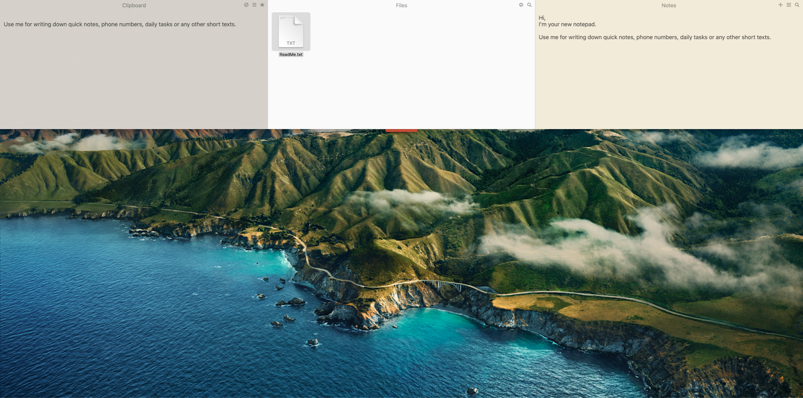 organize all the small notes and files