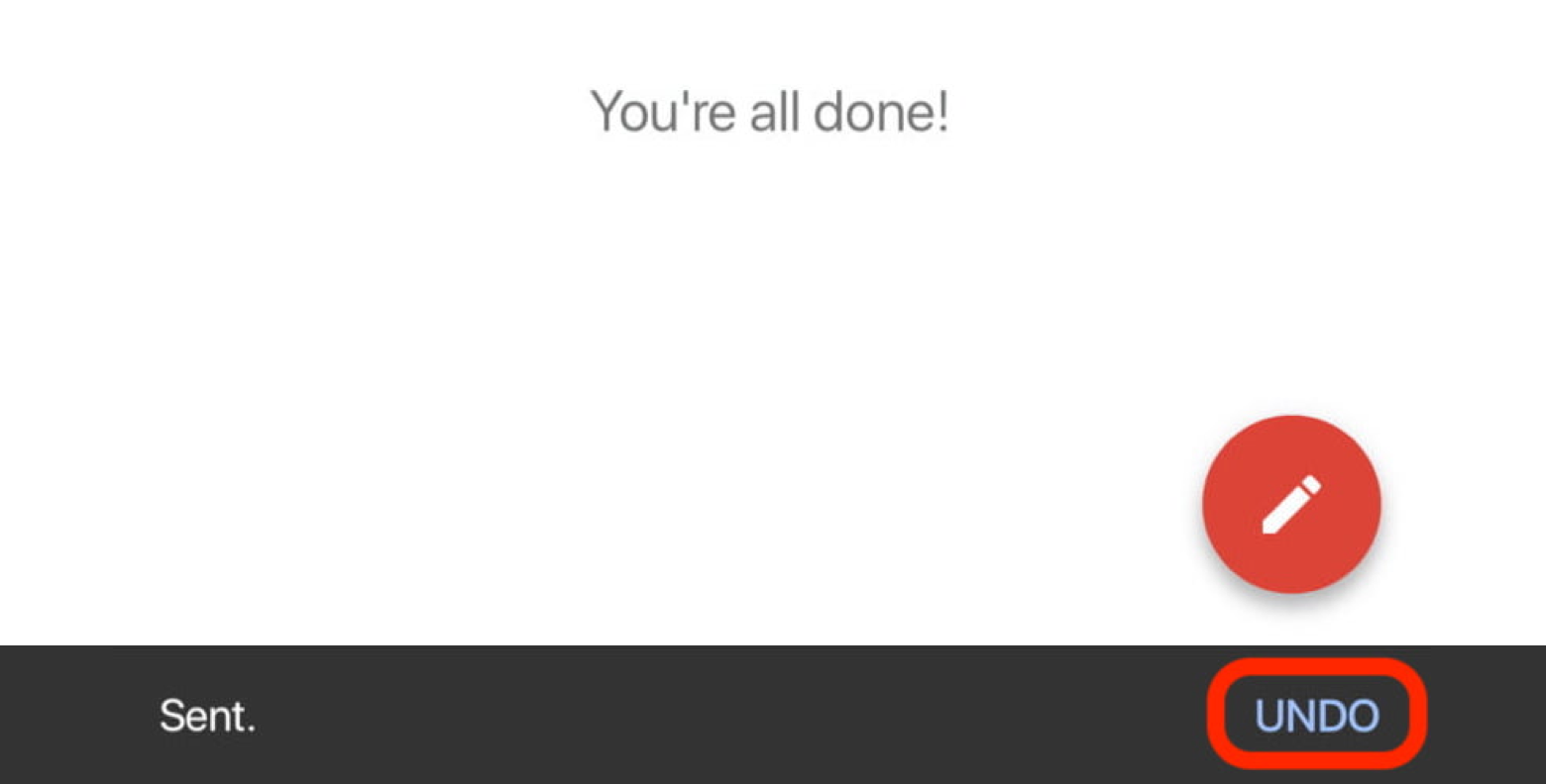 undo sent Gmail android