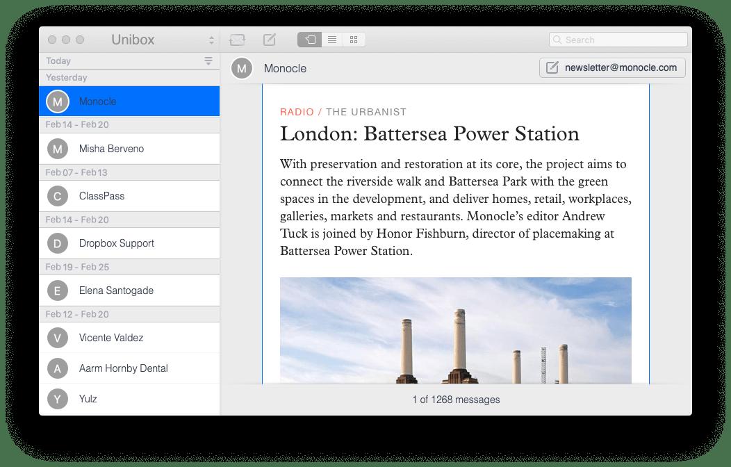Unibox email client