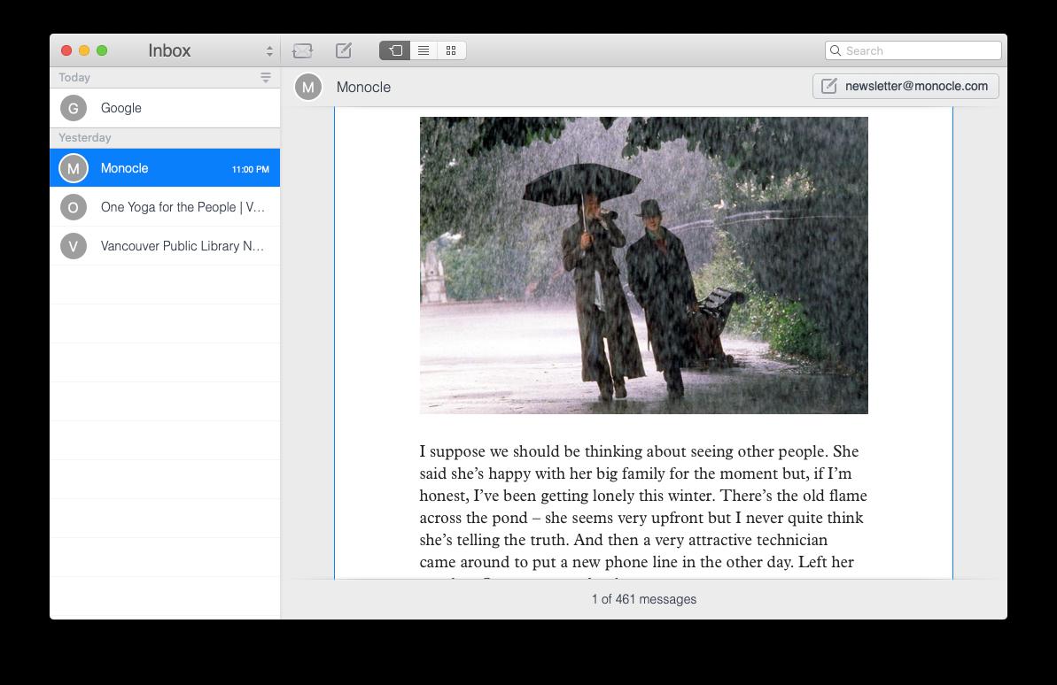 Unibox email client messaging app Mac