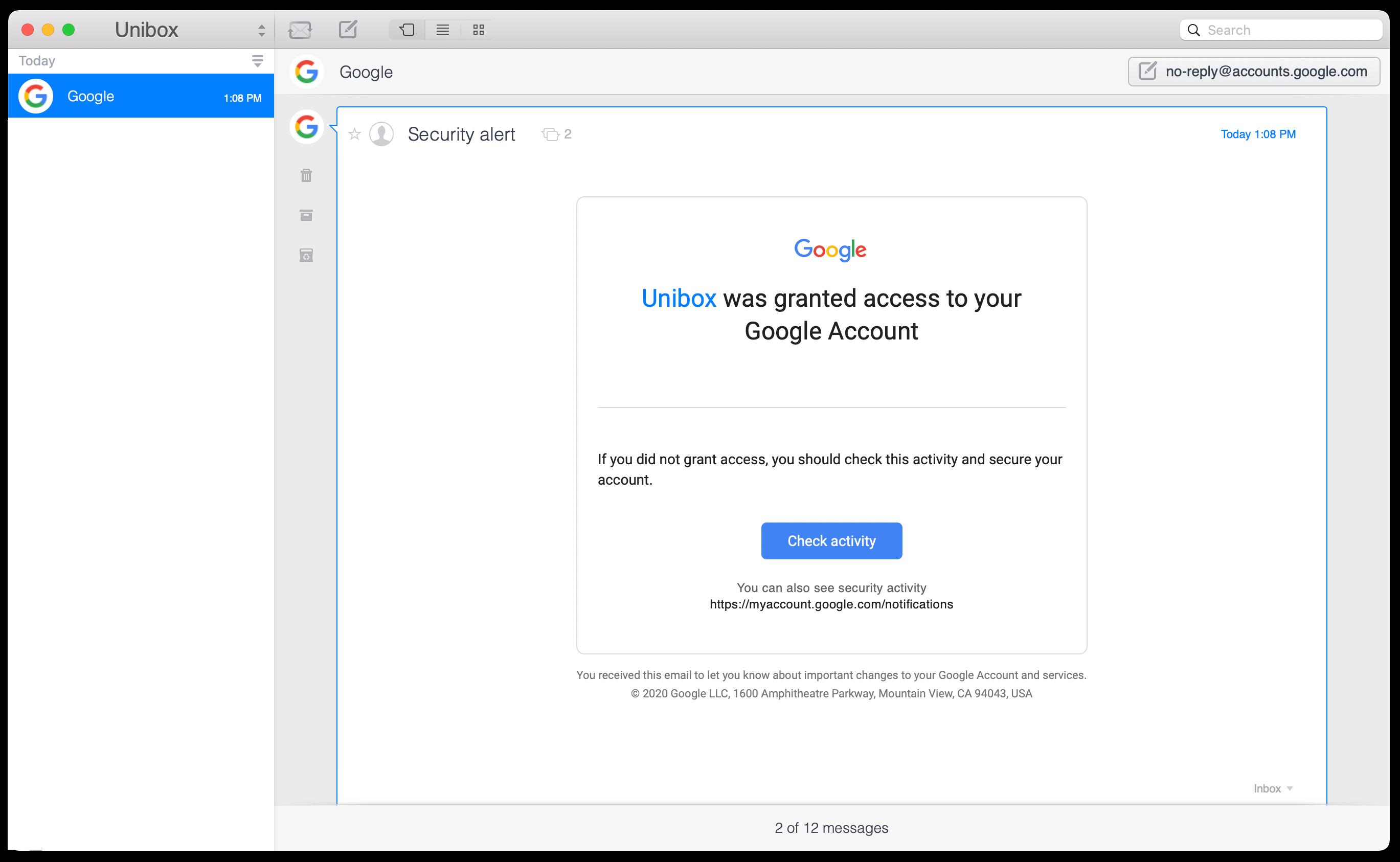 unibox mail app