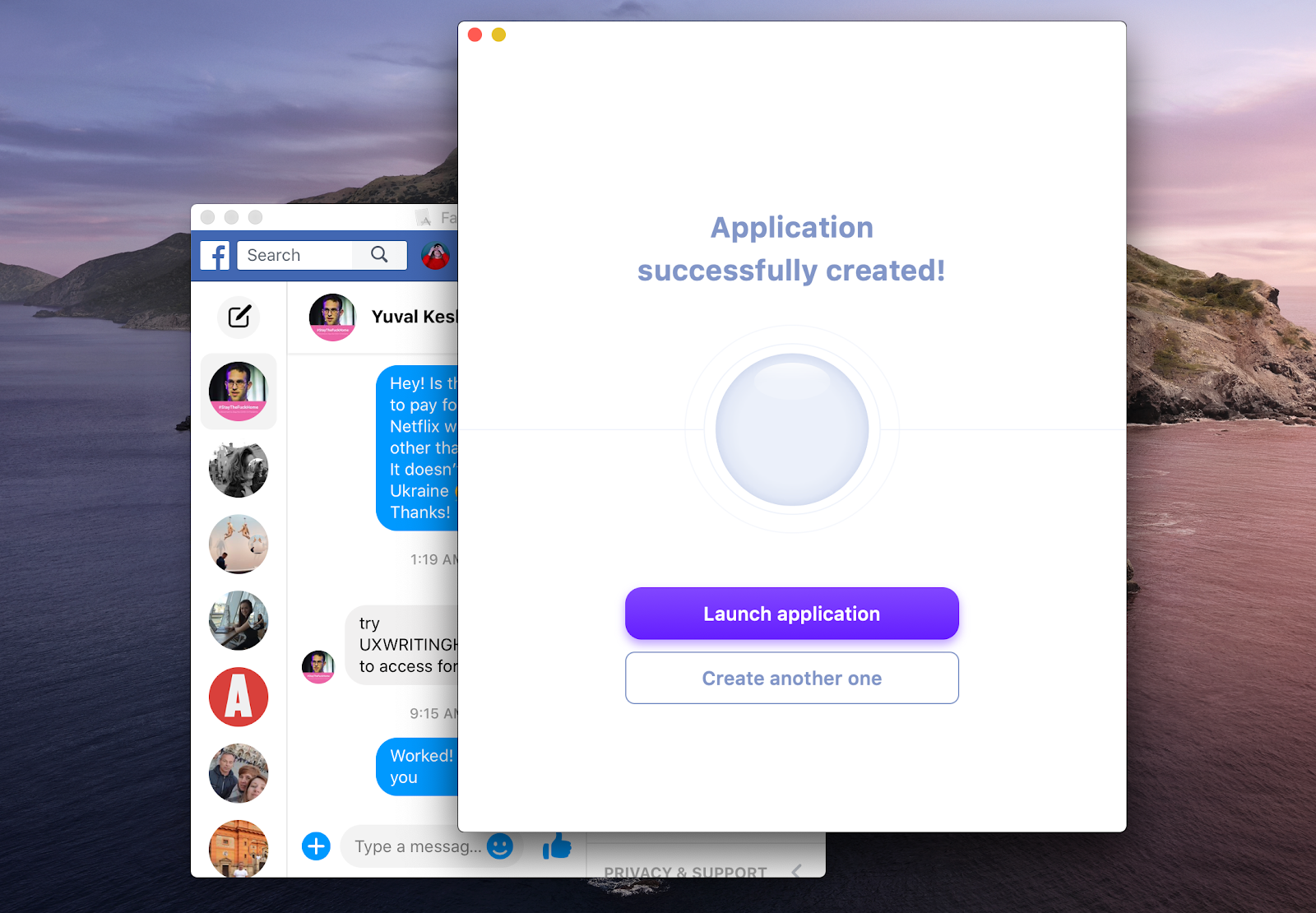 Unite app application creator Mac