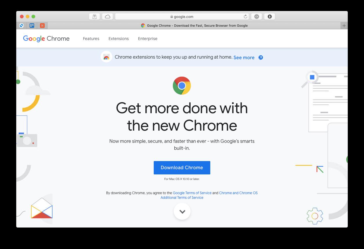 update Chrome browser Mac