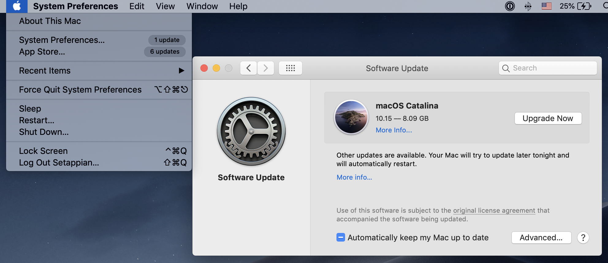 upgrade from mojave