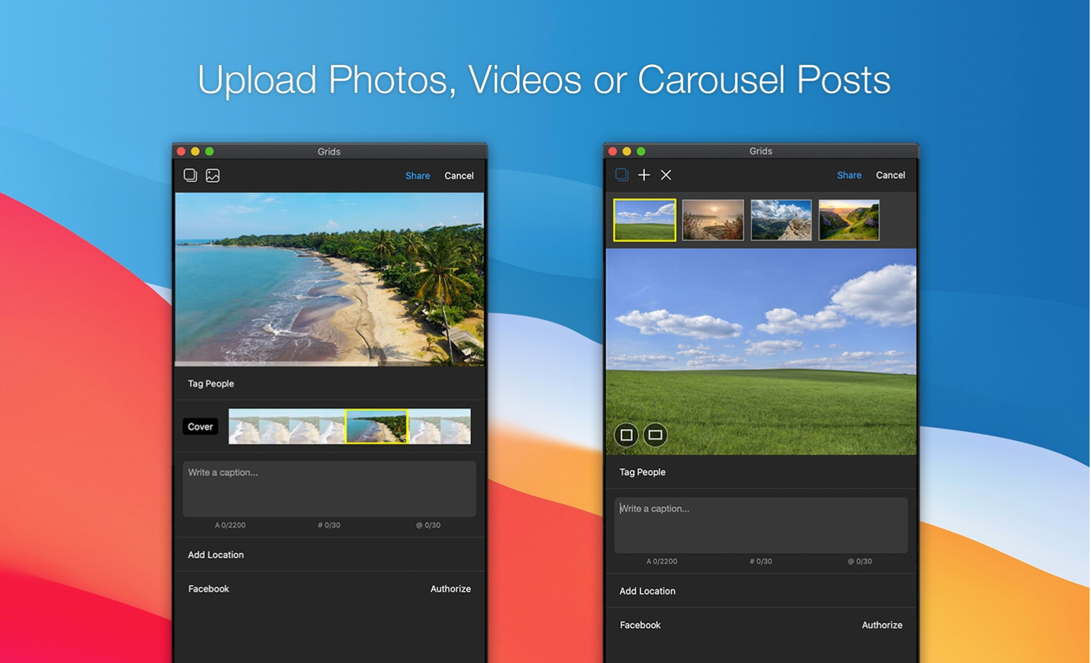 upload YouTube videos to Instagram via Grids