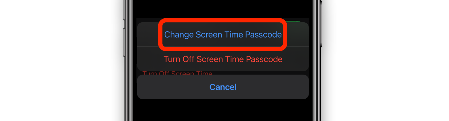 verify screen time passcode