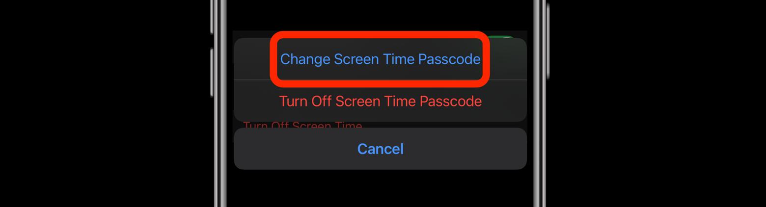 verify screen time passcode