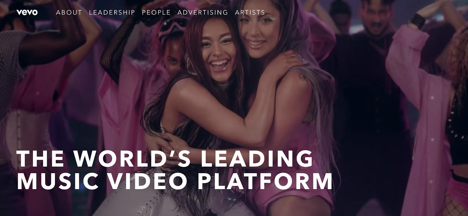 Vevo, the music video platform