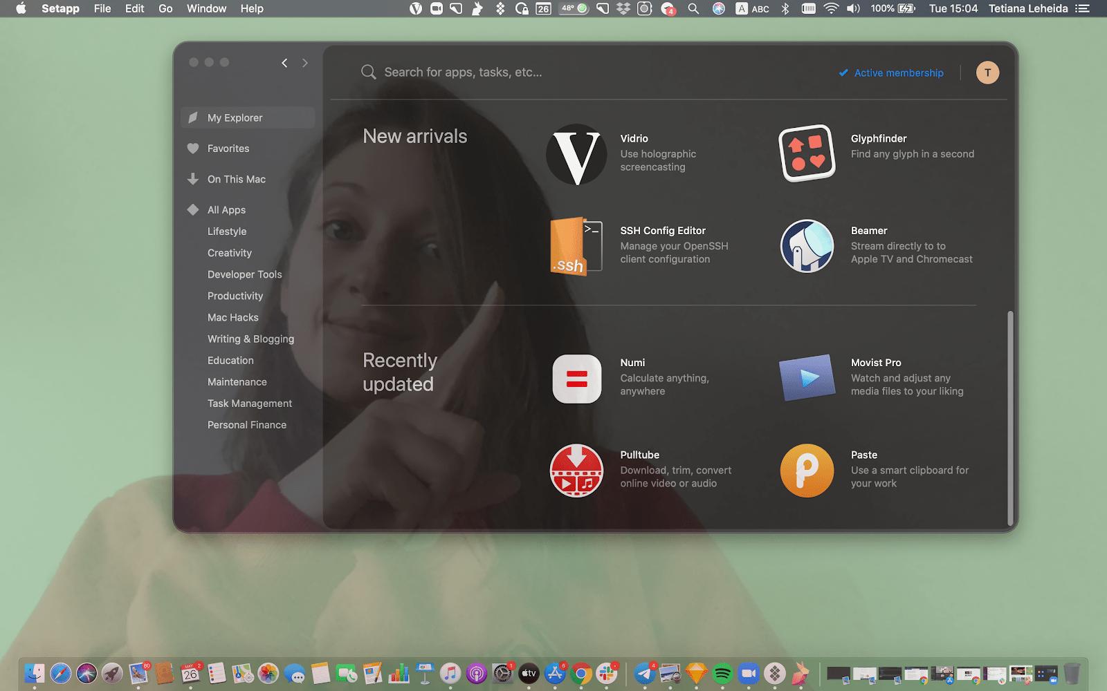 Vidrio Mac app