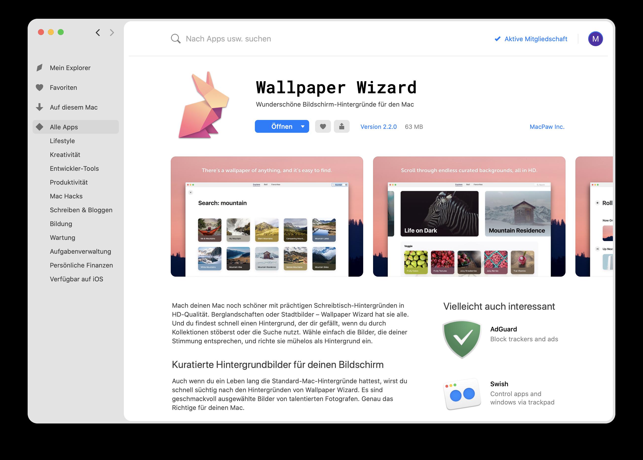 Wallpaper Wizard-App