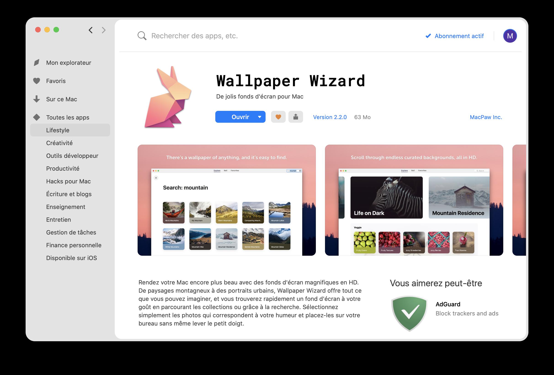 Application Wallpaper Wizard