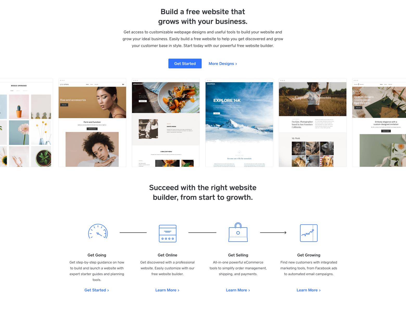website builder example