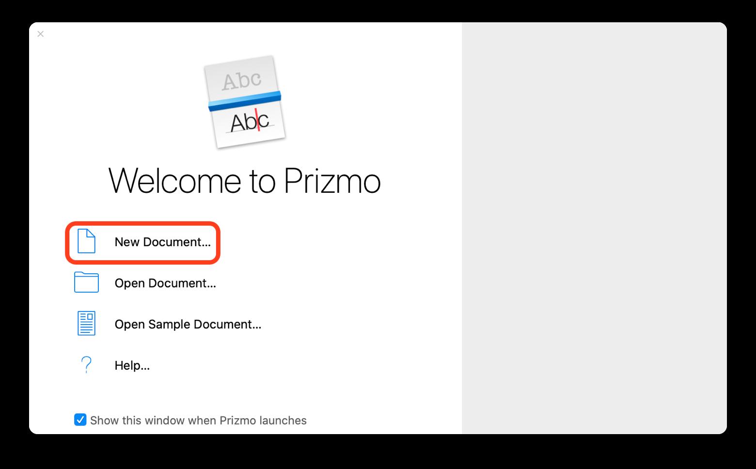 Convertir en JPG avec Prizmo