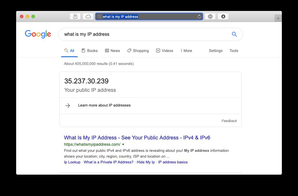 what is my IP address mac Google