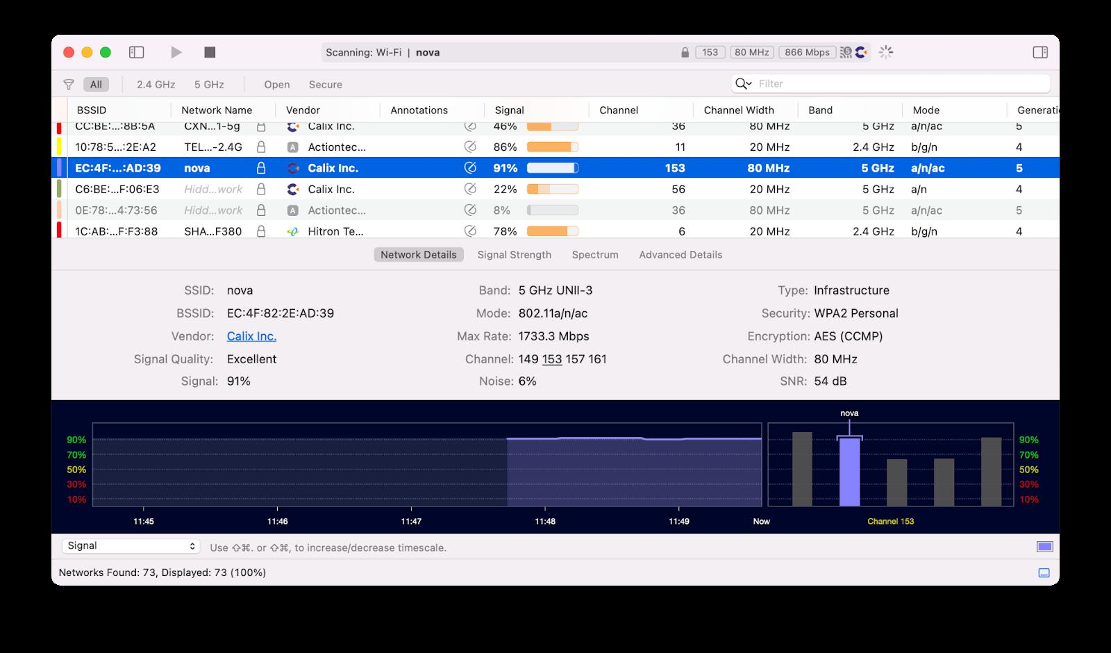 WiFi Explorer analyze network Mac