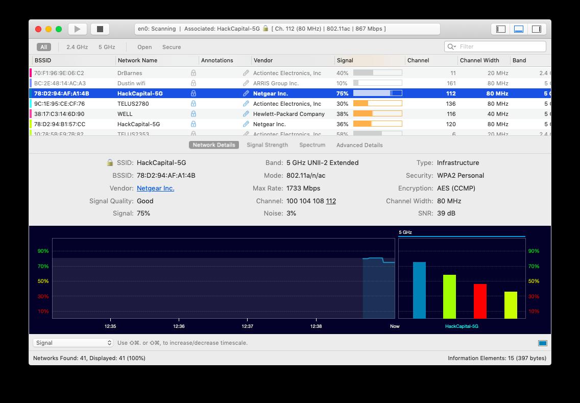 wifi explorer analyze network