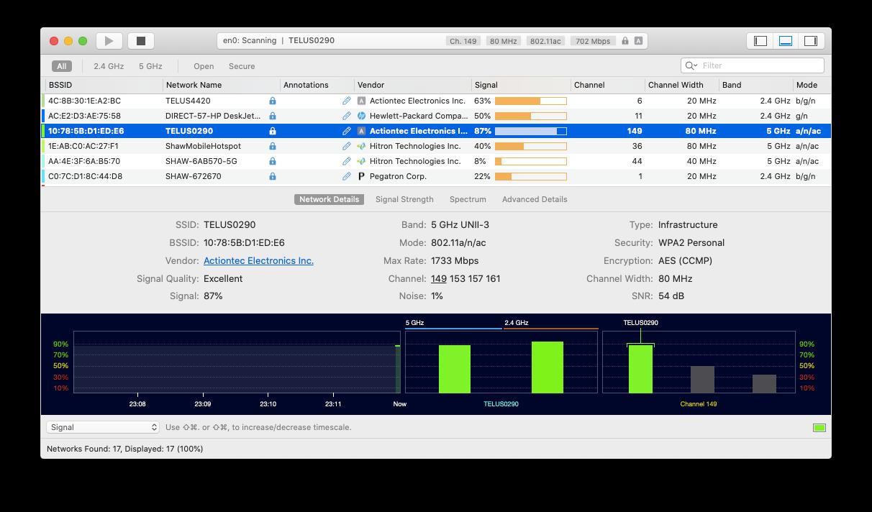 WiFi Explorer app Mac