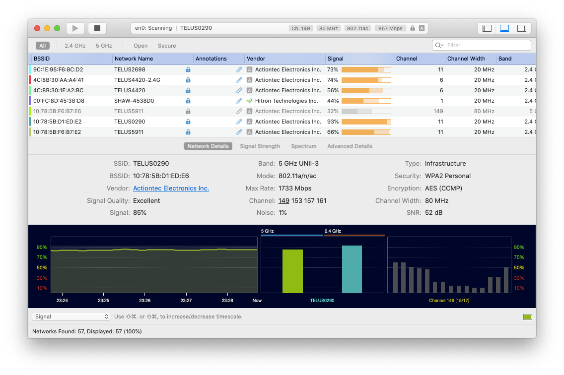 WiFi Explorer Mac app network monitor