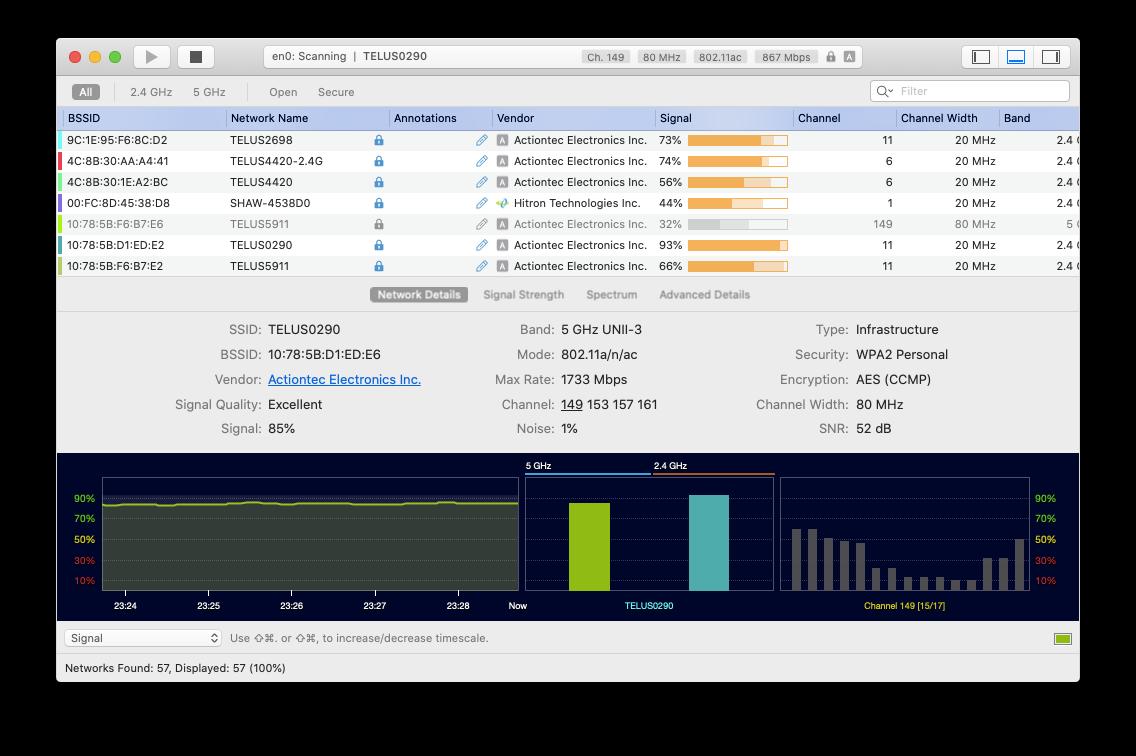 WiFi Explorer Mac app network monitor