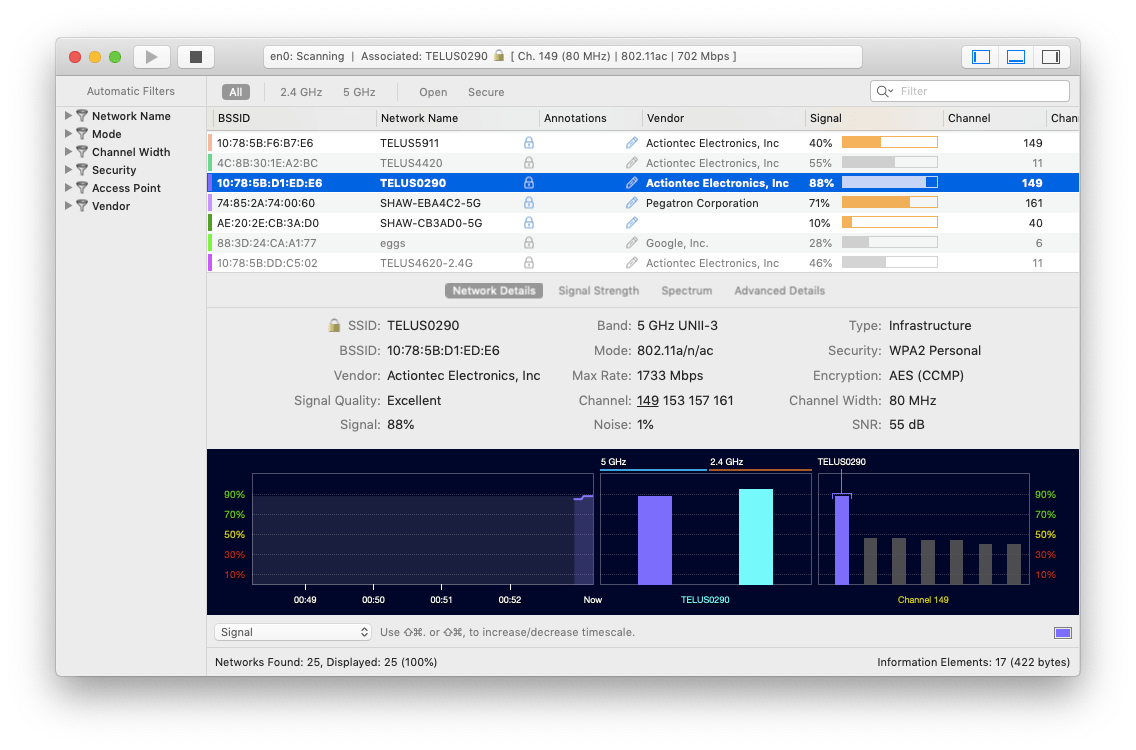 wifi explorer mac network setup